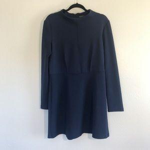 Topshop Long Sleeve Blue Sweater Dress Size 12